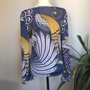 Tata Jolie Tops - NEW (NWOT) Tata Jolie Peacock Print Blouse